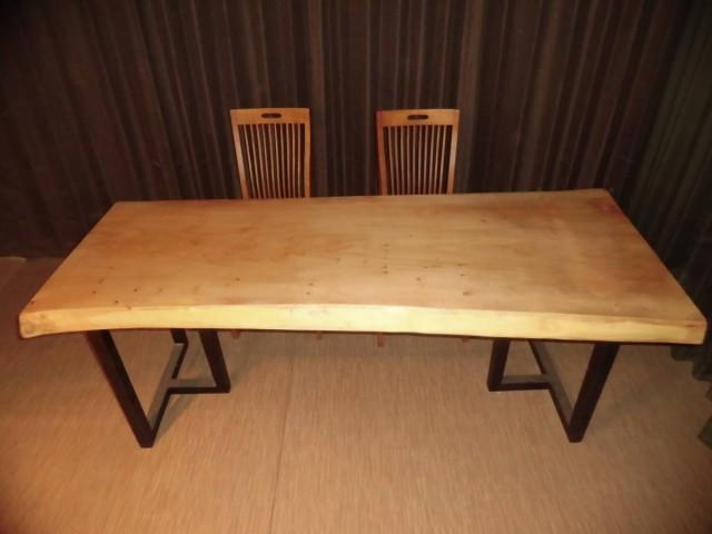 Q-033■ 銀杏 イチョウ テーブル 一枚板 無垢材 ...