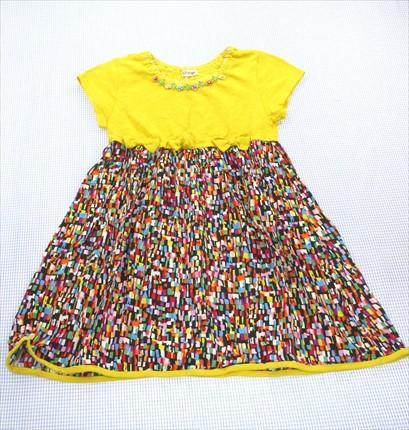 ジェモー Gemeaux ワンピース 半袖 130cm 黄色/黒...