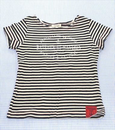 セラフ Seraph Tシャツ 半袖 100cm ボーダー 白/...