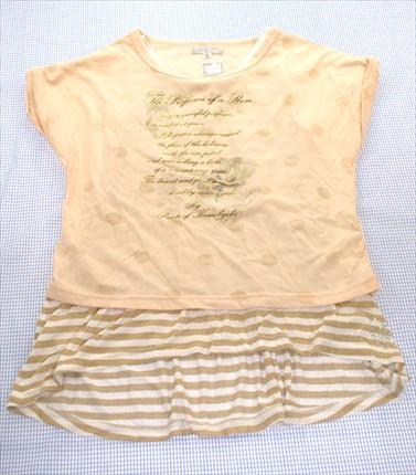 組曲 KUMIKYOKU Tシャツ チュニック 160cm ベージ...