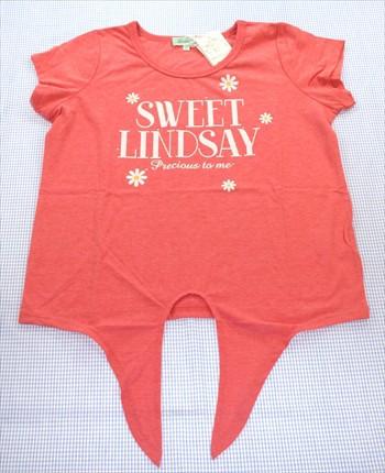 Lindsay リンジィ Tシャツ 半袖 160cm 新品 ピン...