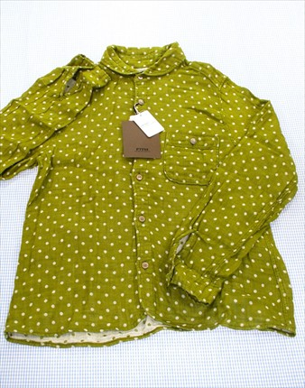 フィス FITH 長袖シャツ ブラウス 150cm 新品 緑...
