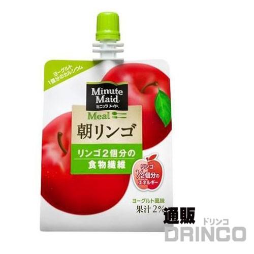 コカコーラ ミニッツメイド 朝リンゴ 180g パウチ...