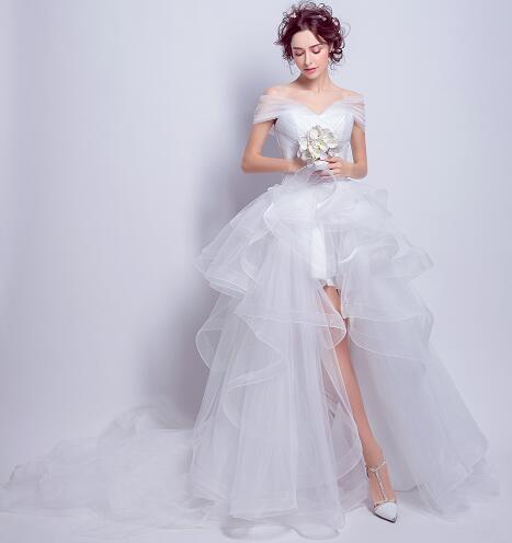 パーティードレス  ウェディングドレス ホワイト...
