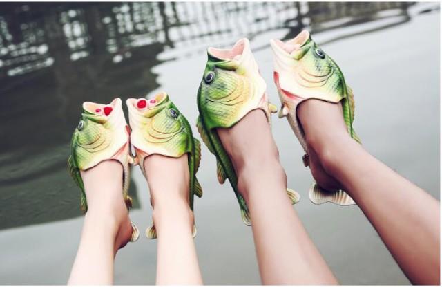 【家族でお揃い11サイズ!】お魚サンダル ファミリ...