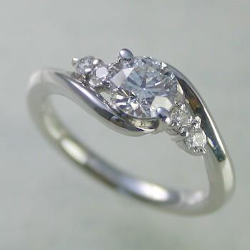 婚約指輪 ダイヤモンド プラチナ 0.6ct 鑑定書付 ...