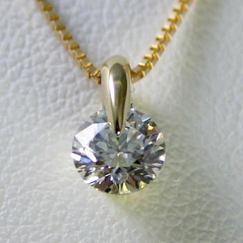 ダイヤモンド ネックレス 一粒 K18 1.0ct 鑑定書...