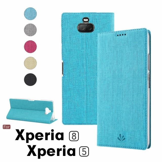 SONY Xperia8 SOV42 ケース カバー 手帳型 au Y!m...