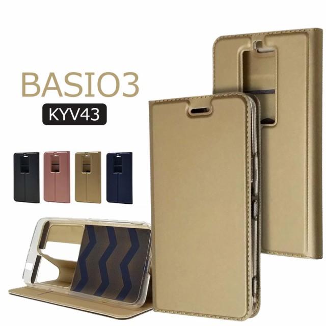 BASIO3 KYV43ケース 手帳型ケース カバー ベイシ...