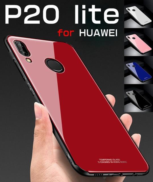 Huawei P20 liteケース 強化ガラス+TPU Huawei P2...