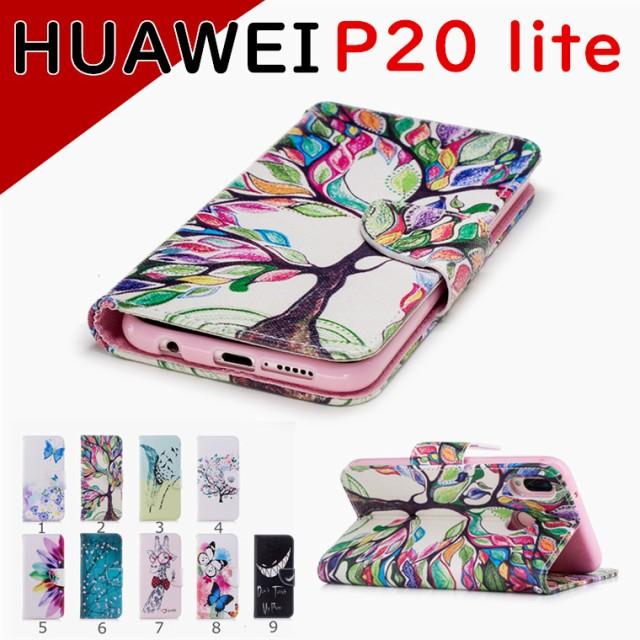 HUAWEI P20 lite ケース 手帳型 花柄 huawei p20l...