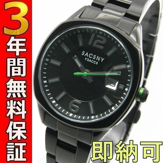 即納可 サクスニーイザック 腕時計 SY-15046B-BK ...