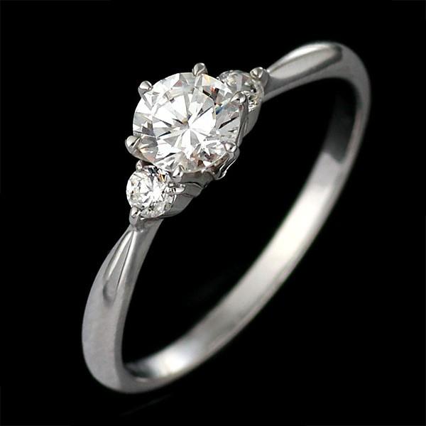 刻印無料 婚約指輪 0.2カラット サイドダイヤ付き...