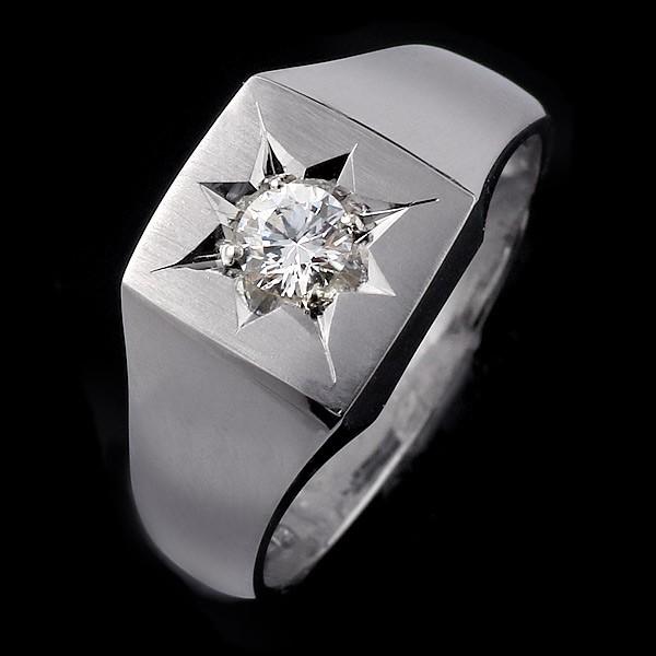 結婚指輪 印台リング 指輪 ダイヤモンド 0.30ct ...