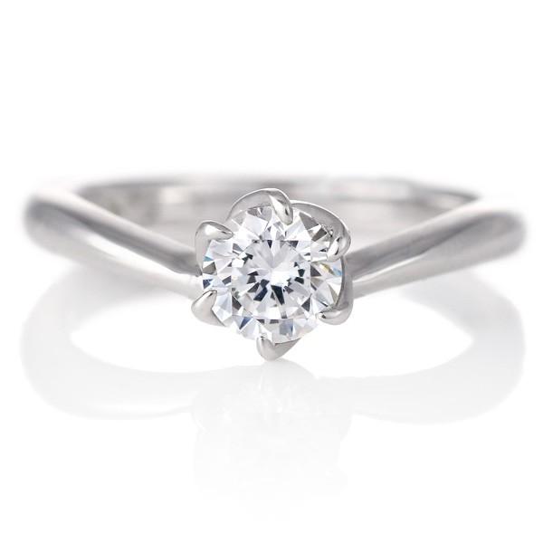 婚約指輪 ダイヤモンド プラチナ リング 0.3ct 天...