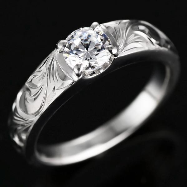 ハワイアンジュエリー エンゲージリング 婚約指輪...