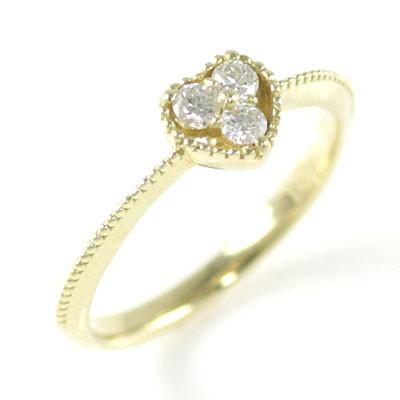 K18ピンクゴールドダイヤモンドリング
