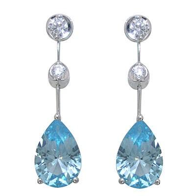 Brand Jewelry PLATIM ブルートパーズピアス
