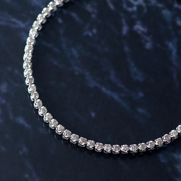 1カラット ダイヤモンド テニスブレスレット ホワ...