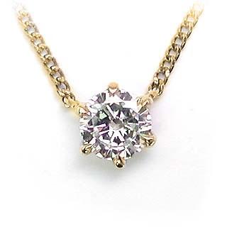 ネックレス 一粒 ダイヤモンド ネックレス K18イ...