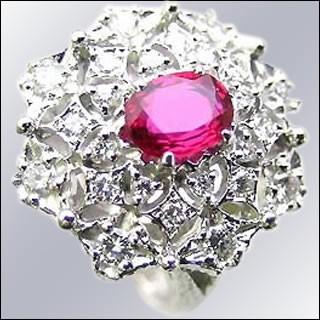Brand Jewelry ASPIRARE Pt ルビーリング