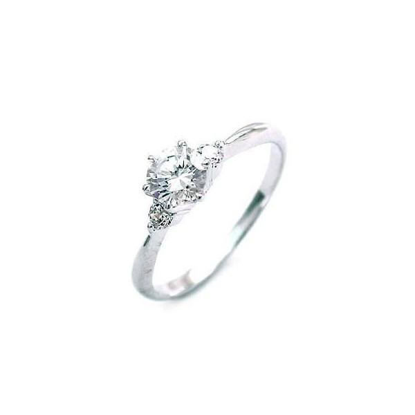 婚約指輪 ダイヤモンド プラチナリング 一粒 大粒...