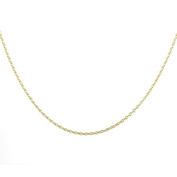 ネックレス 18金 K18 18k 丸小豆 アズキ 線径0.20...