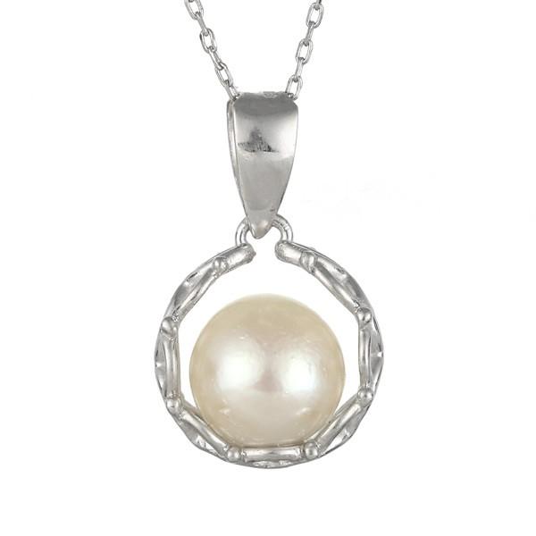 真珠 あこや真珠 パール ネックレス 一粒 18金 K1...