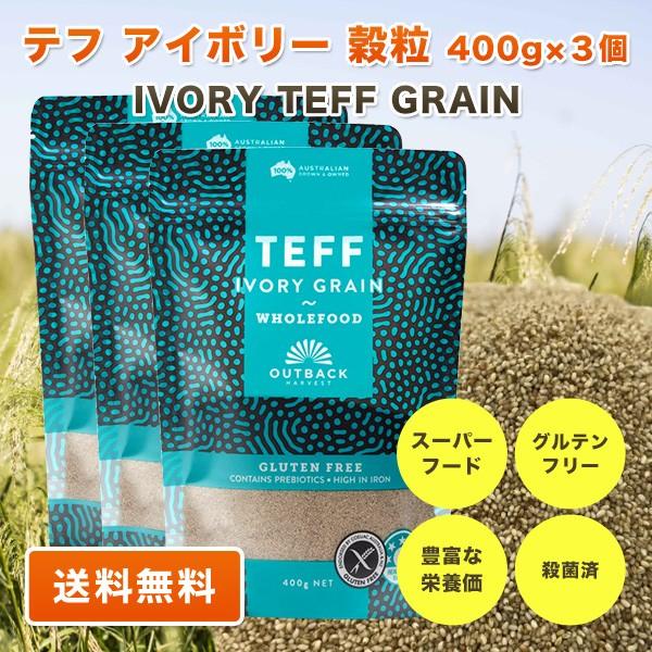 テフ 穀粒 アイボリー 400g ×3個 TEFF IVORY GRA...