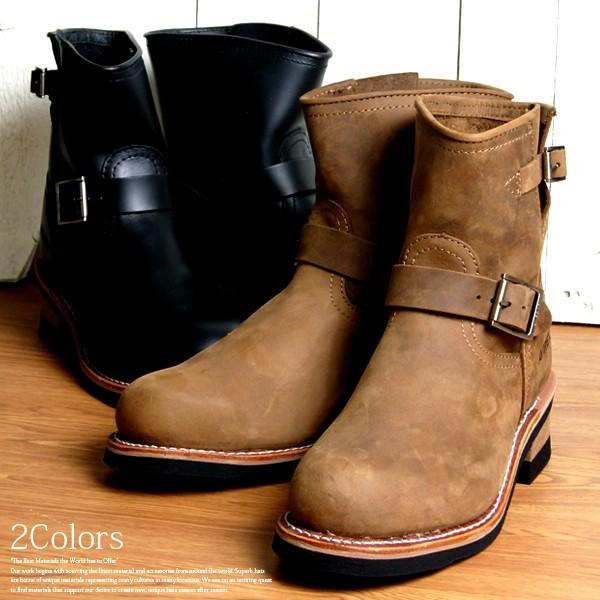 ブーツ メンズ アビレックス シューズ 靴 レザー HORNETエンジニアブーツ サンタリートAVIREX (AV2225)shoes