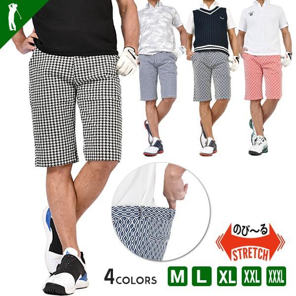 ゴルフウェア メンズ ゴルフ ショートパンツ 短パ...