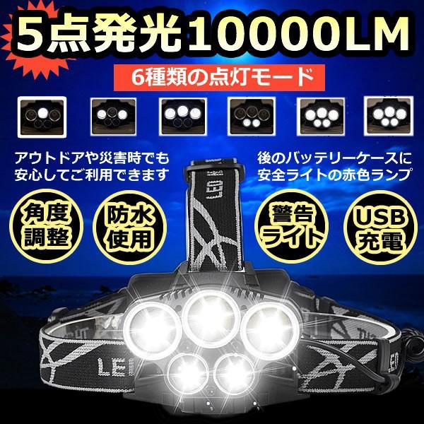 LEDヘッドライト 超高輝度10000ルーメン 防水仕様...