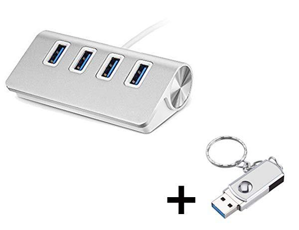 USB ハブ メモリ 3.0 高速4ポートハブ アルミ製...