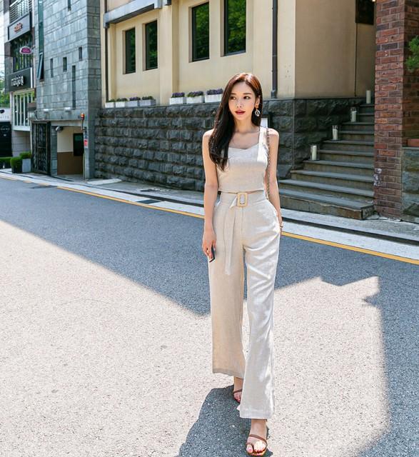 韓国 ファッション レディース セットアップ 上下...