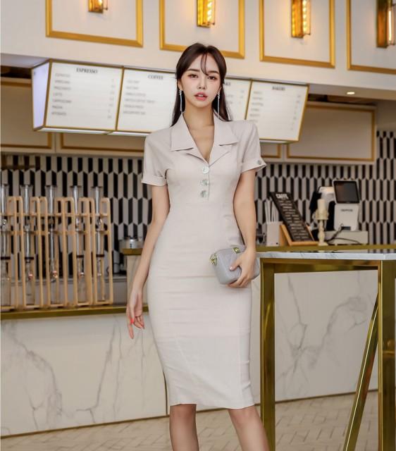 韓国 ファッション レディース タイトワンピース ...