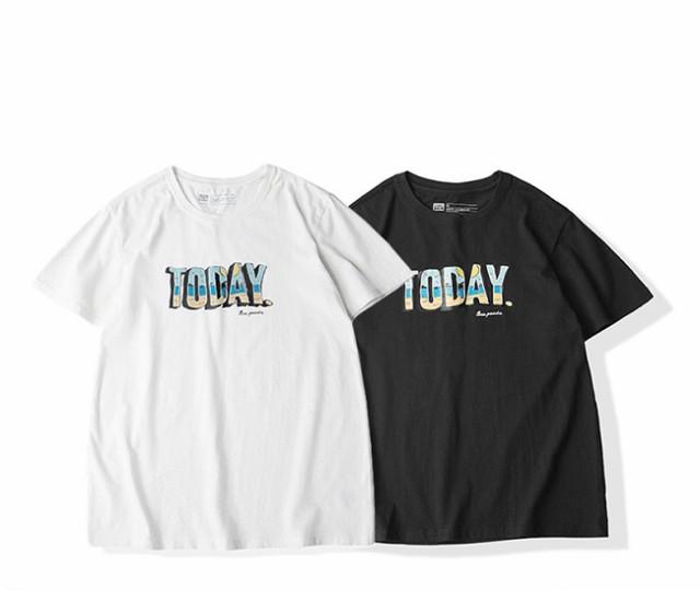 メンズ トップス Tシャツ プリントTシャツ 英字プ...
