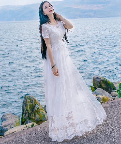 ドレス ロングドレス フォーマル パーティー 半袖...