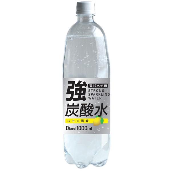 友桝飲料 強炭酸水レモン (富士薬品) 1000ml×15...