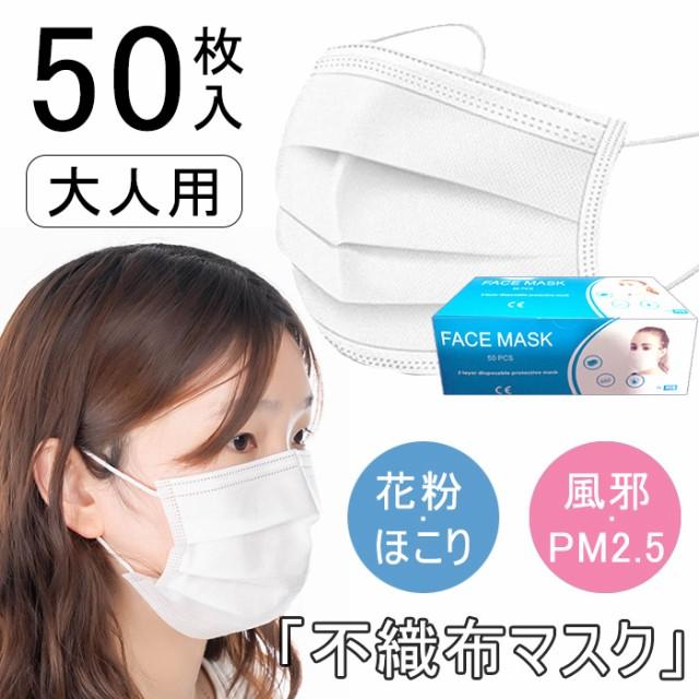 【即日出荷】マスク 50枚入り 使い捨て メルトブ...
