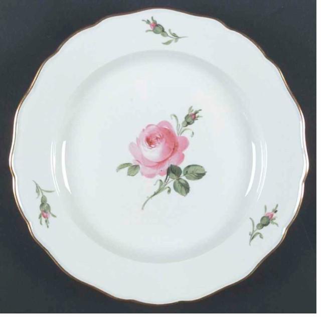 マイセン 25cm 大皿 2枚組 ピンクの薔薇 ...