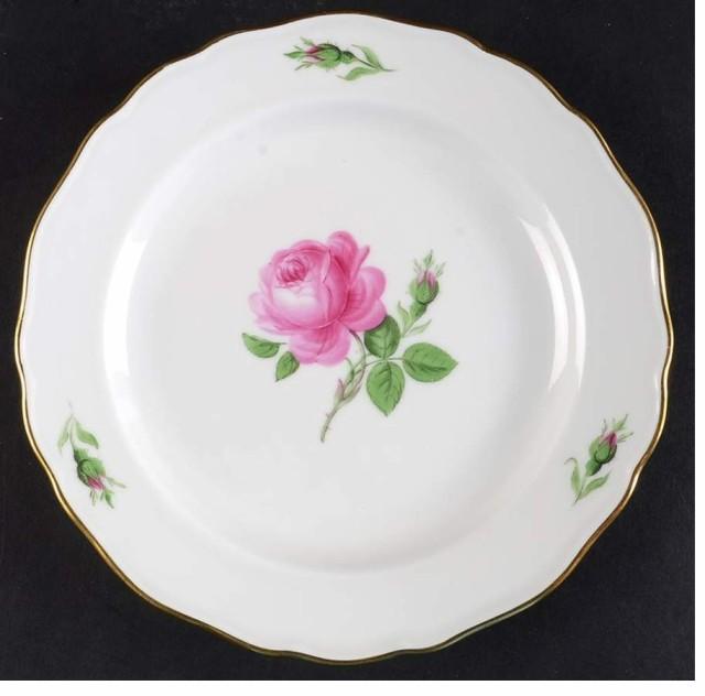 マイセン 18cm 中皿 2枚組 ピンクの薔薇 2...