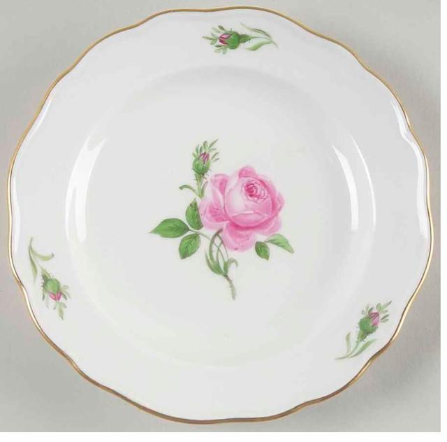 マイセン 16cm 小皿 2枚組 ピンクの薔薇 2...