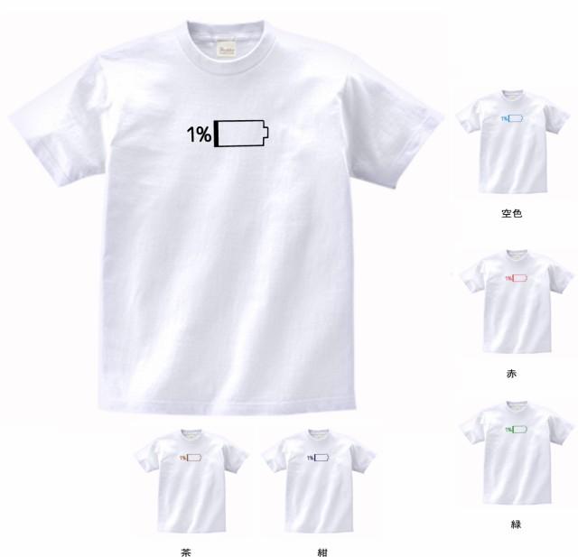 デザイン Tシャツ おもしろ 残り1% 白 ML...