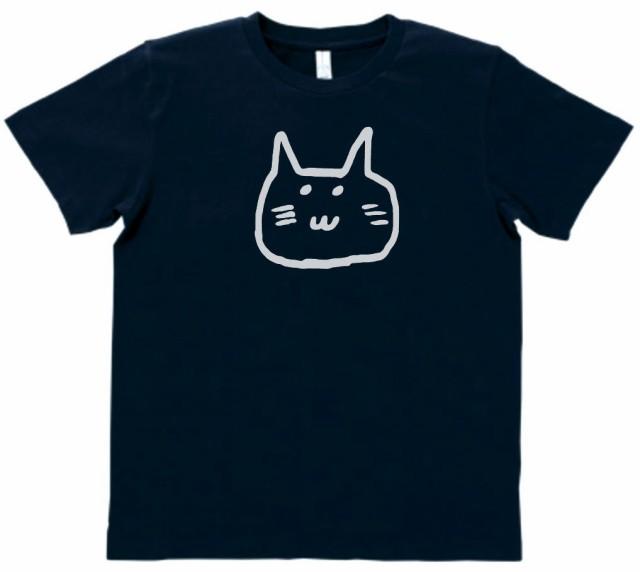 動物 生き物 ゆるネコ Tシャツ ネイビー ML...