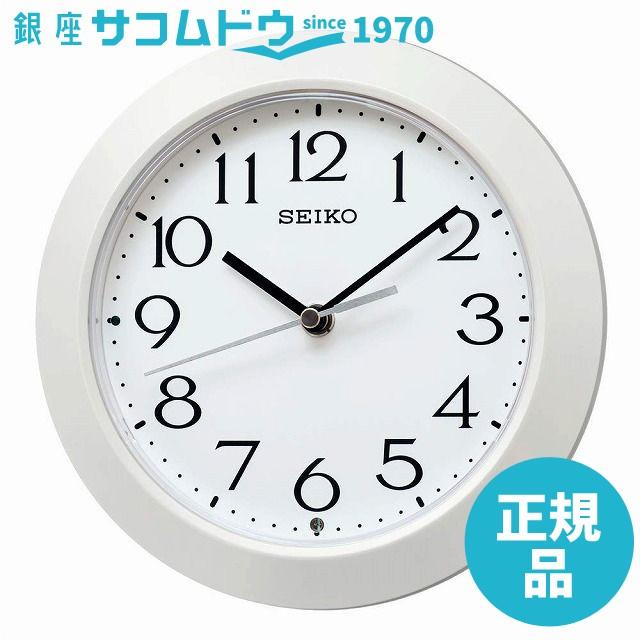 SEIKO CLOCK セイコー クロック 掛け時計 白パー...
