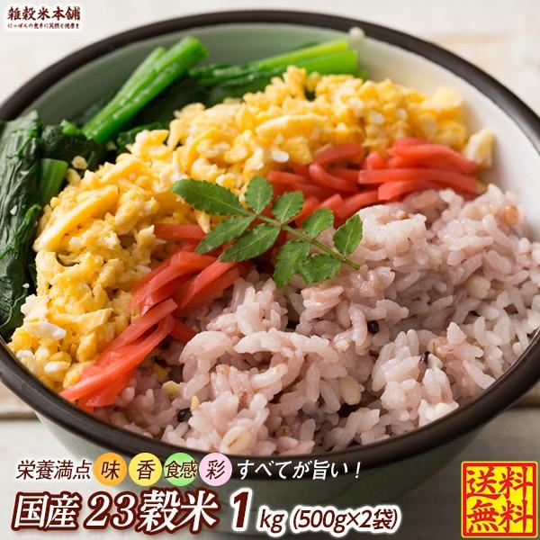 雑穀 雑穀米 国産 栄養満点23穀米 1kg(500g×2袋)...