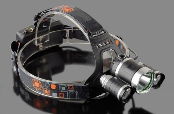 ヘッドライト CREE XM-L T6 2XPE  LED 3灯 5000L...