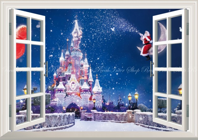 絵画風 壁紙ポスター  ディズニーワールドの雪景...