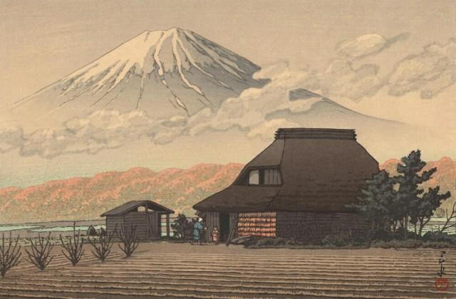 絵画風 壁紙ポスター  川瀬巴水 鳴澤の富士 1936...