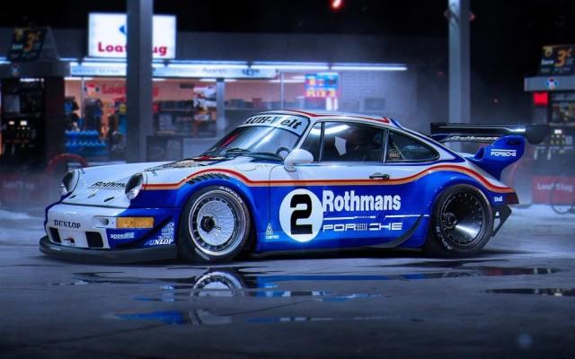 絵画風 壁紙ポスター ポルシェ 911 ターボ レース...